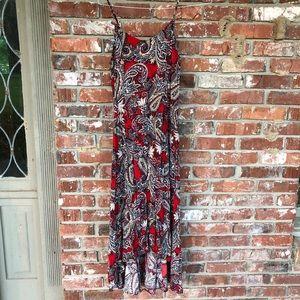 Jachs's girlfriend spaghetti strap maxi dress M